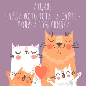 Найди кота и получи 10% скидки! Акция-тест на внимательность.